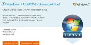Windows 7 USB/DVD Download Tools