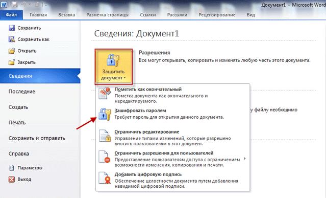 документ word 2010