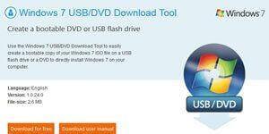 Создание загрузочной флешки в Windows 7 USB/DVD Download Tools