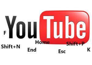 горячие клавиши youtube