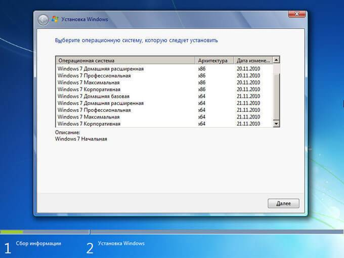 выбор редакции windows 7