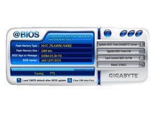 как обновить биос gigabyte