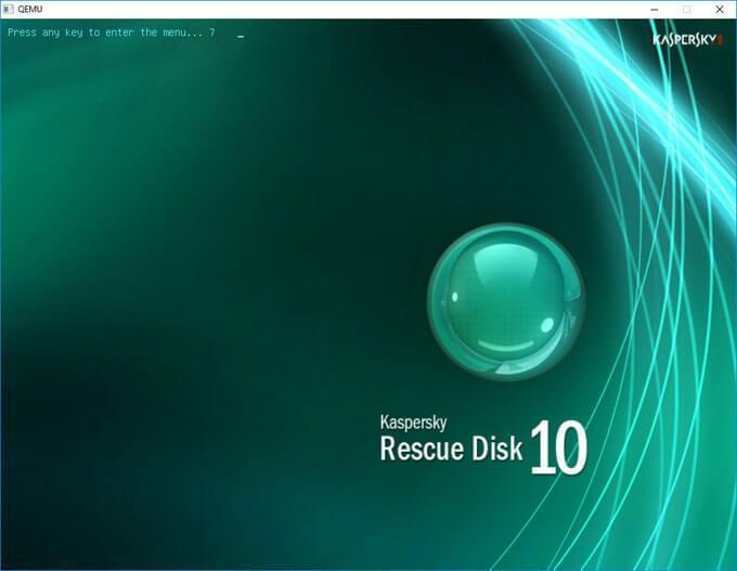 загрузка kaspersky rescue disk