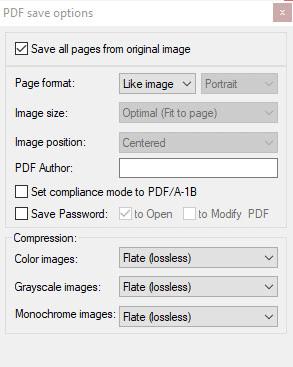 опции pdf