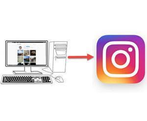 добавить в инстаграм фото с компьютера