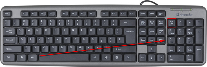 выбор клавиш