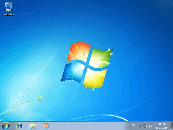 windows 7 переустановлена