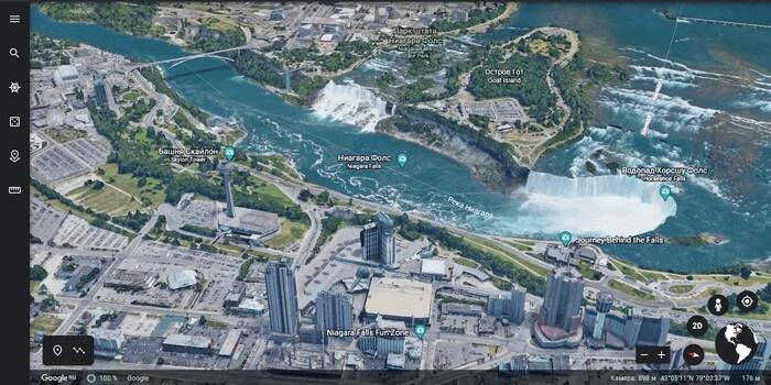 карта в 3d режиме
