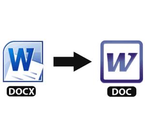 конвертируем docx в doc