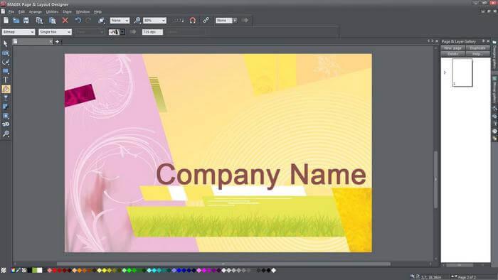 magix page layout designer