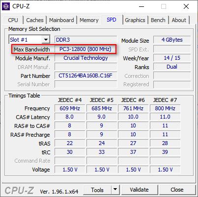 параметры памяти