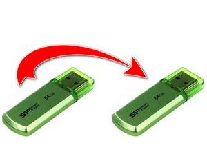 как перекинуть данные с флешки на флешку
