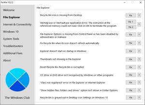 исправление ошибок windows 10 в fixwin 10
