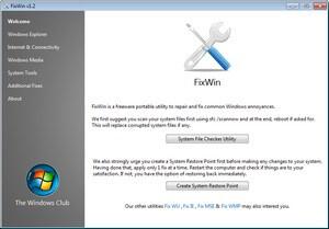 программа fixwin для исправления ошибок windows 7